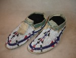 Arapaho Moccasins with White Background