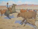 Charitible Sale: J. Clinton Shepherd – Roping a Calf