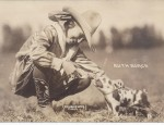 Cowgirl Ruth Roach and Her Pig – Real Photo Postcard