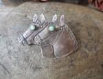 Two Horse Pin Circa 1940