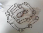 Margaret Sullivan – Sterling Silver Twisted and Hammered Link Chain