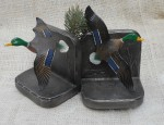 Enameled Iron Duck Bookends