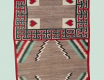 Navajo Heart Double Saddle Blanket