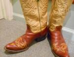 Elegant Vintage Two-Tone Tony Lama Boots