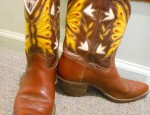 Custom Cowgirl Butterfly Boots