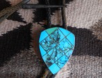Sterling and Turquoise Shield Bolo