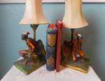 (SOLD) Pair of Yellowstone Bookend/Lamps