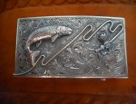 Clint Orms – Sterling Leaping Trout Trophy Buckle