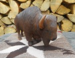 Large Cottonwood Buffalo Carving