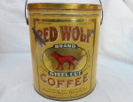 Red Wolf Coffee Tin
